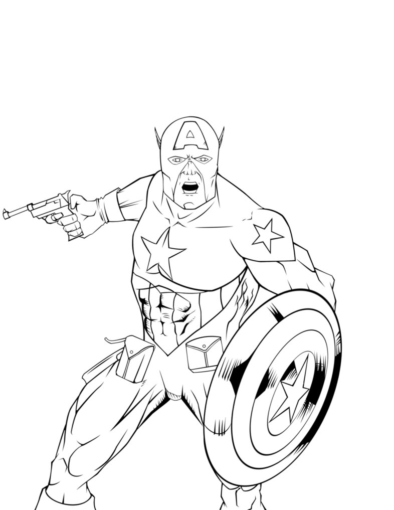 Image of Captain America Coloring Pages