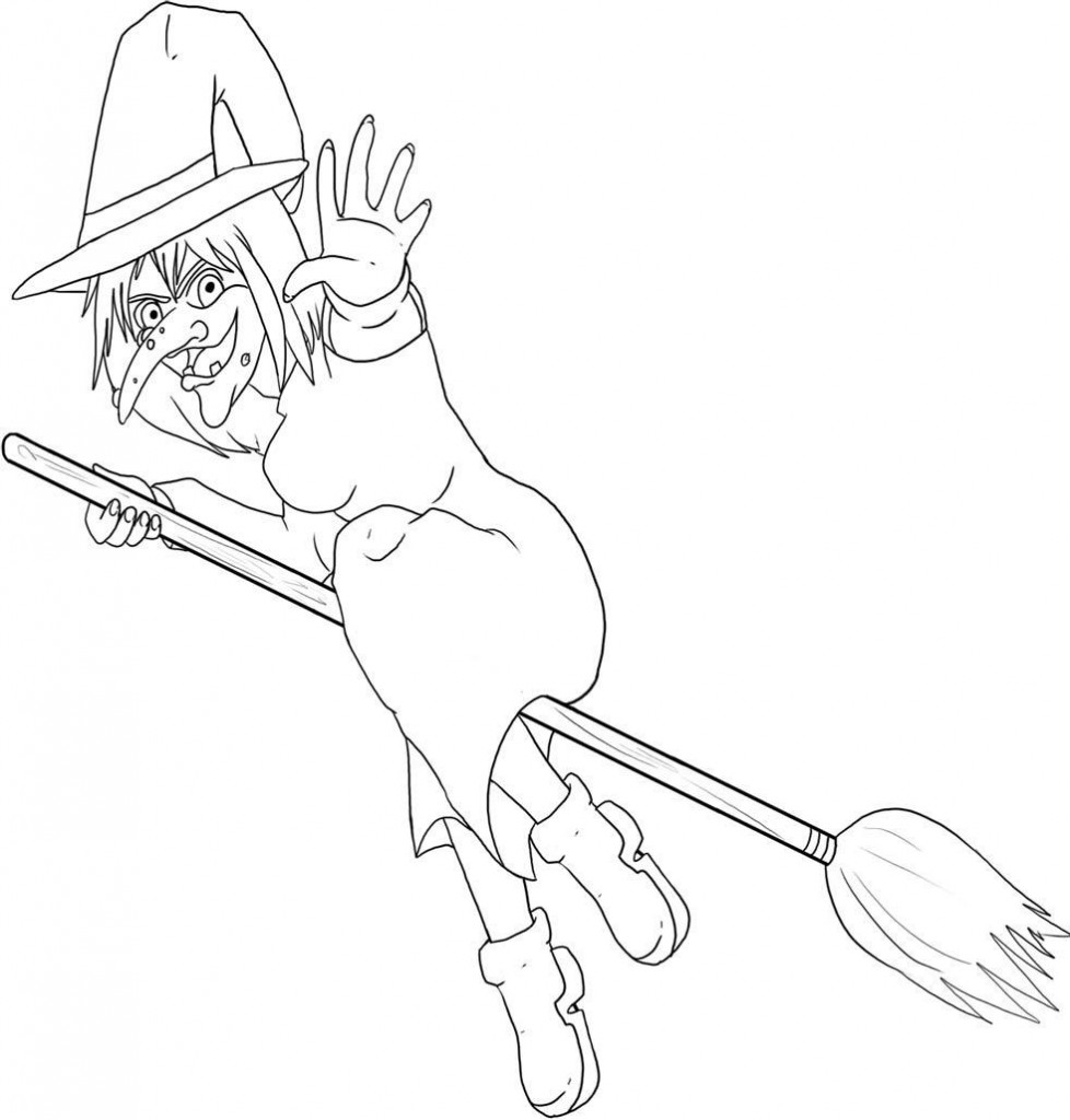 Image of Witch Coloring Pages