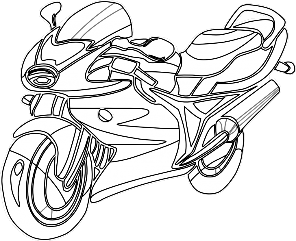 Images of Motorcycle Coloring Pages