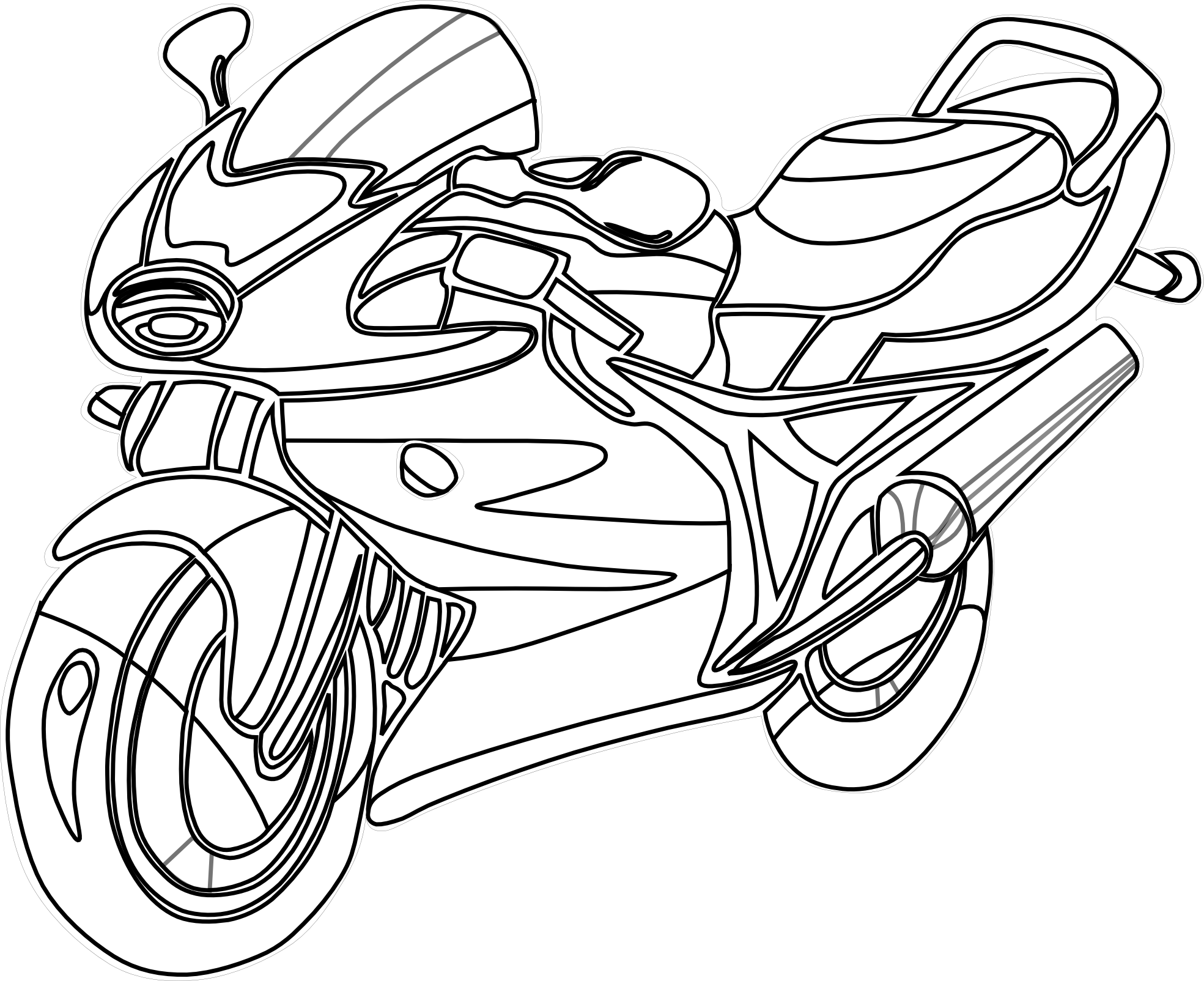 free biker coloring pages - photo#1