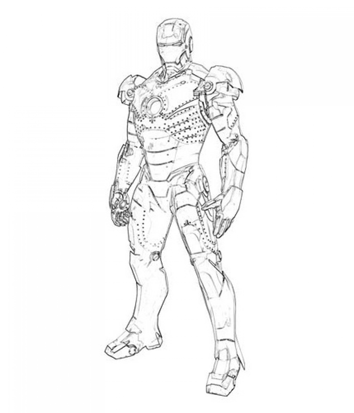 Iron Man Coloring Pages For Kids Printable