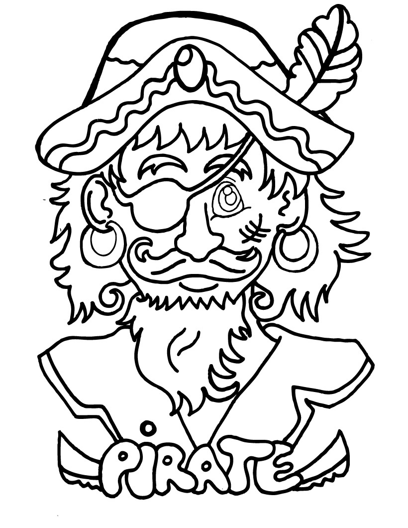 Free printable pirate coloring pages for kids - Tete de pirate dessin ...
