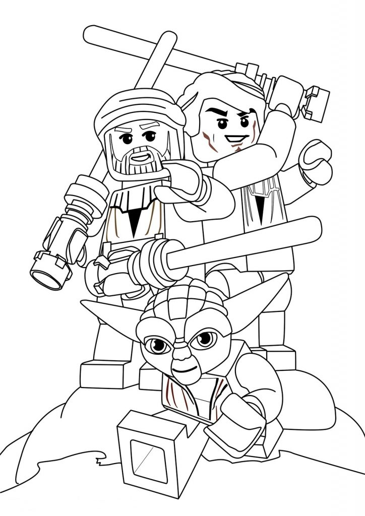 Lego Yoda - Star Wars Coloring Pages