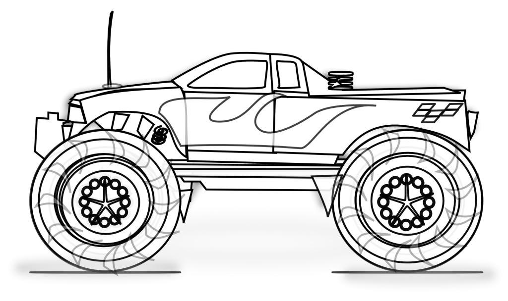 Free Printable Monster Truck Coloring Pages For Kids - Coloring-sheets-for-boys