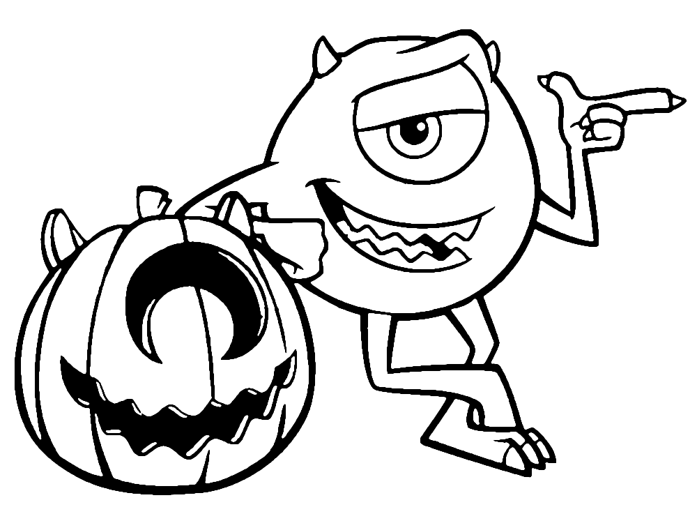 Monstersinc Halloween Coloring Page
