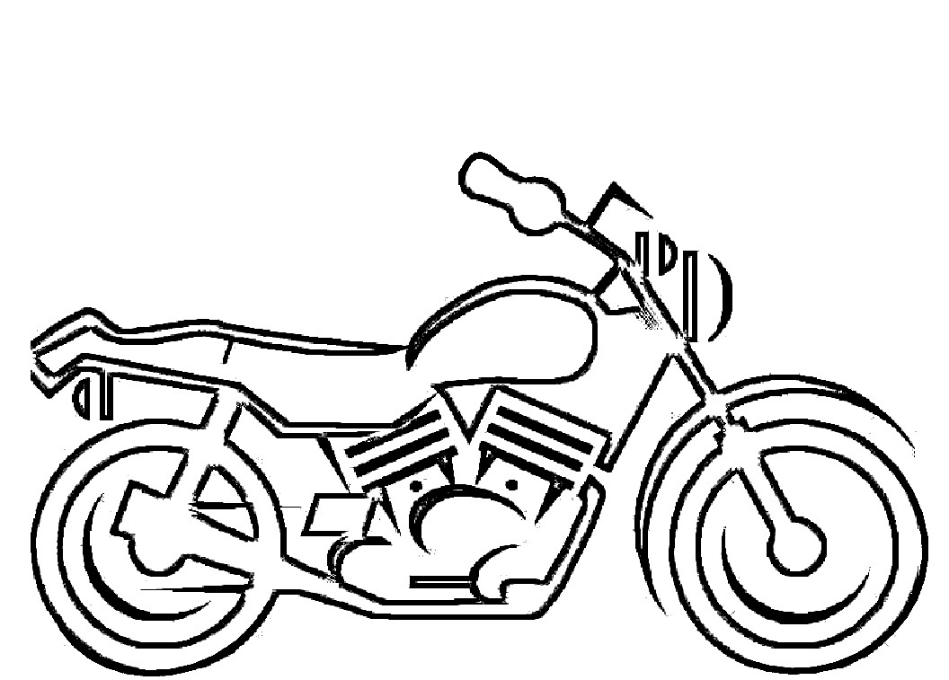 motorbike template for cake - free printable motorcycle coloring pages for kids