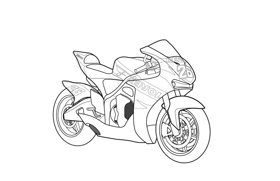 Motorcycle Coloring Pages Images