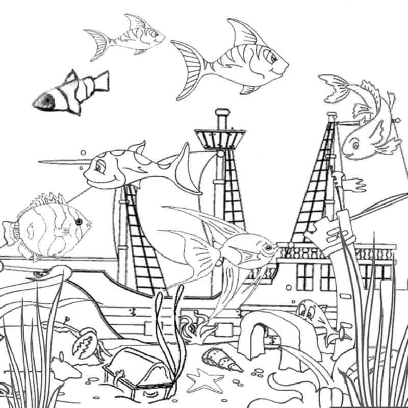 coloring pages of the ocean - photo#17