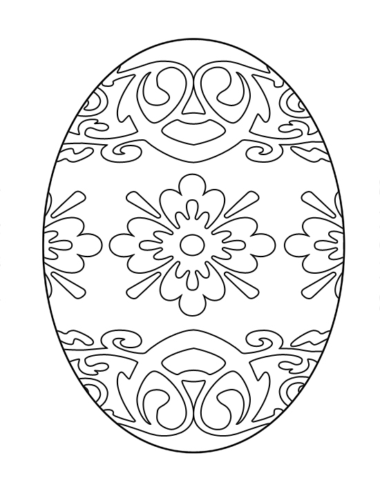 Patterned Easter Egg Coloring Page