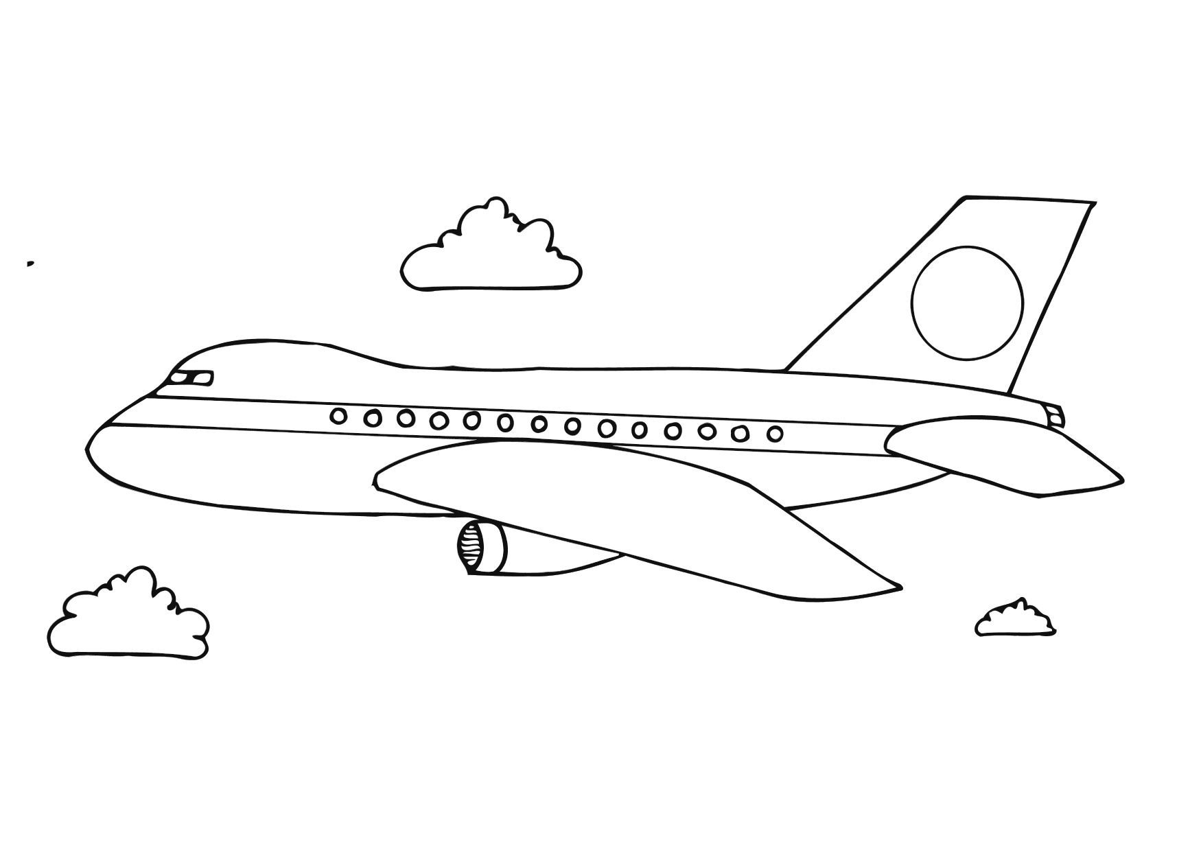 photos of airplane coloring pages