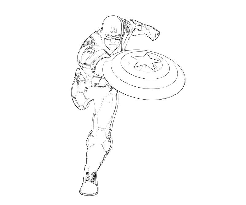 Picture of Captain America Coloring Pages