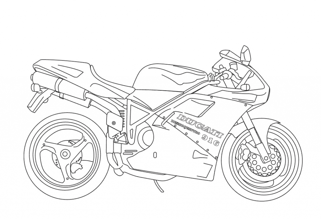 Pictures of Motorcycle Coloring Pages
