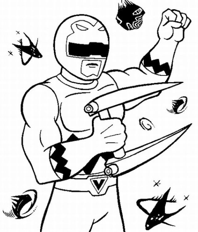 Power Ranger Ninja Storm Coloring Pages