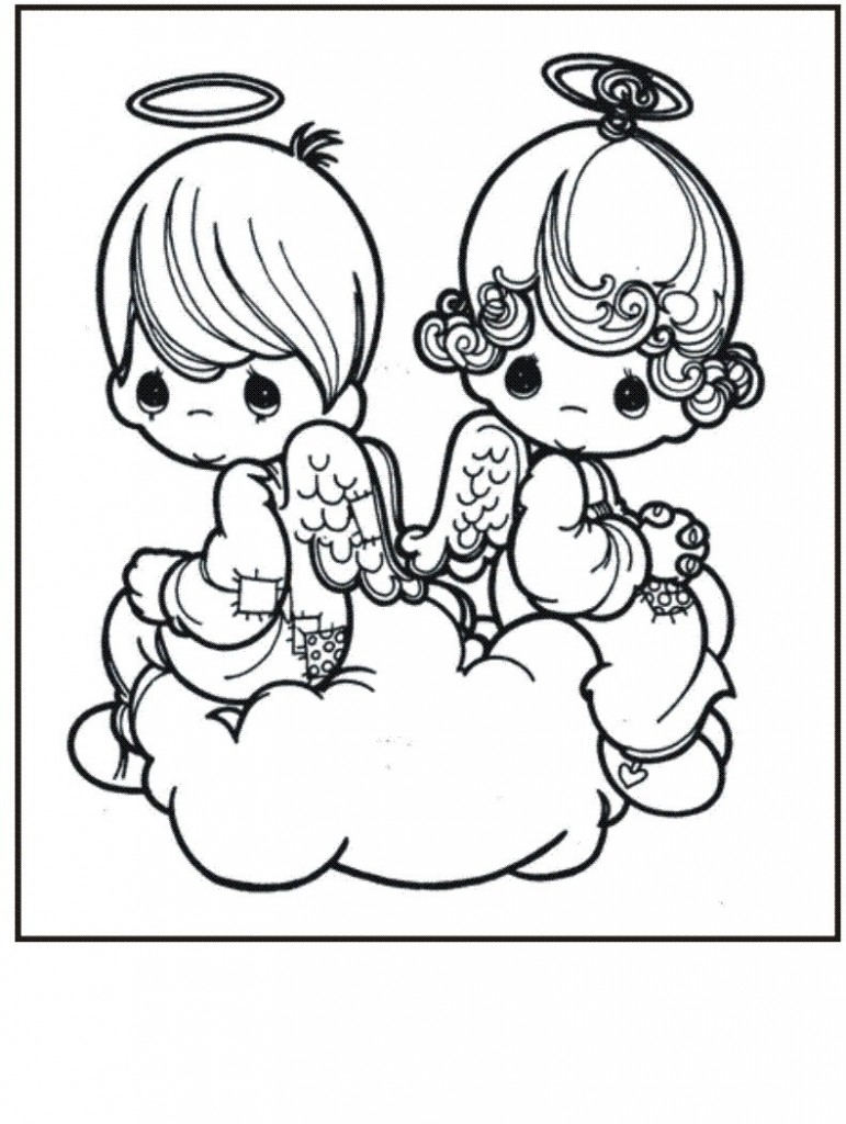 Baby Precious Moments Coloring Pages