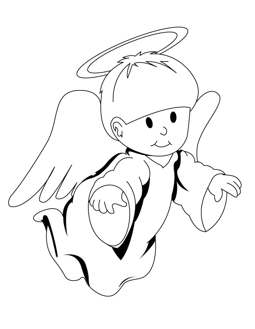picture about Angel Printable known as Absolutely free Printable Angel Coloring Internet pages For Young children