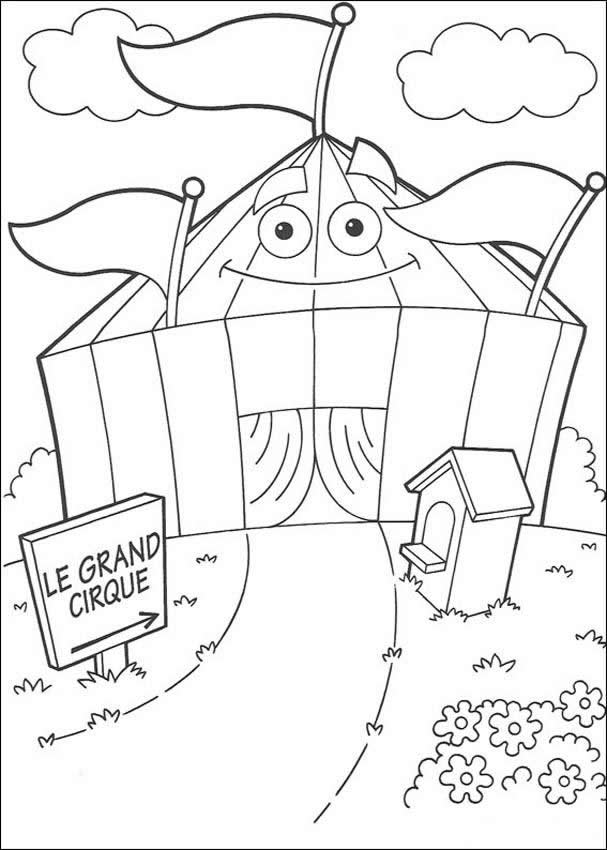coloring pages of circus - photo#42