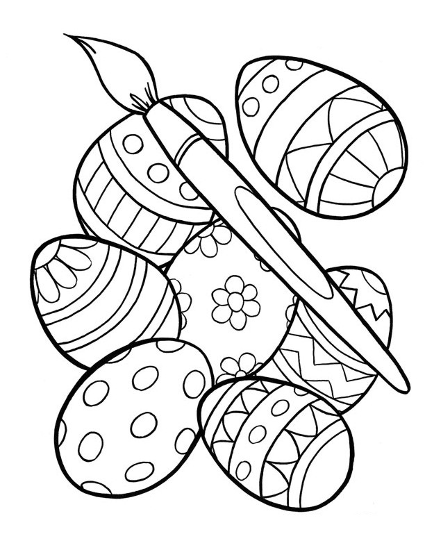 Free printable easter egg coloring pages for kids for Free easter coloring page