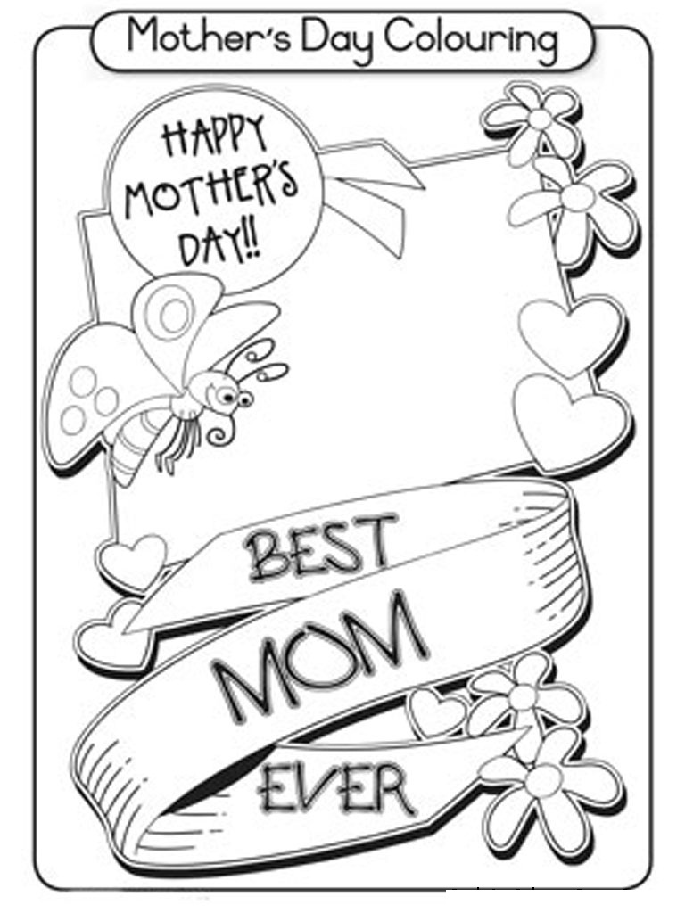 Free Printable Mothers Day Coloring