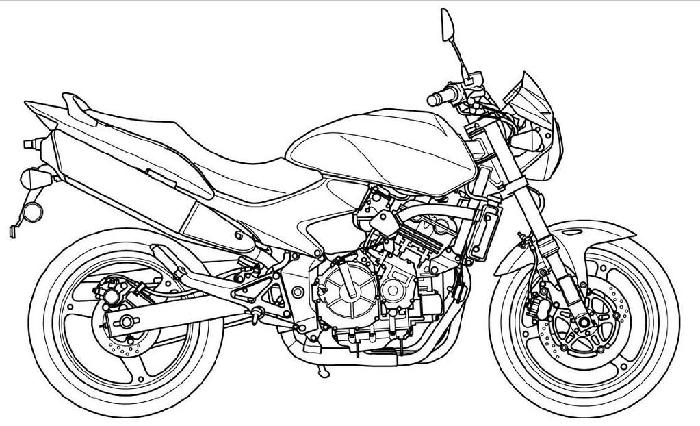 free biker coloring pages - photo#17