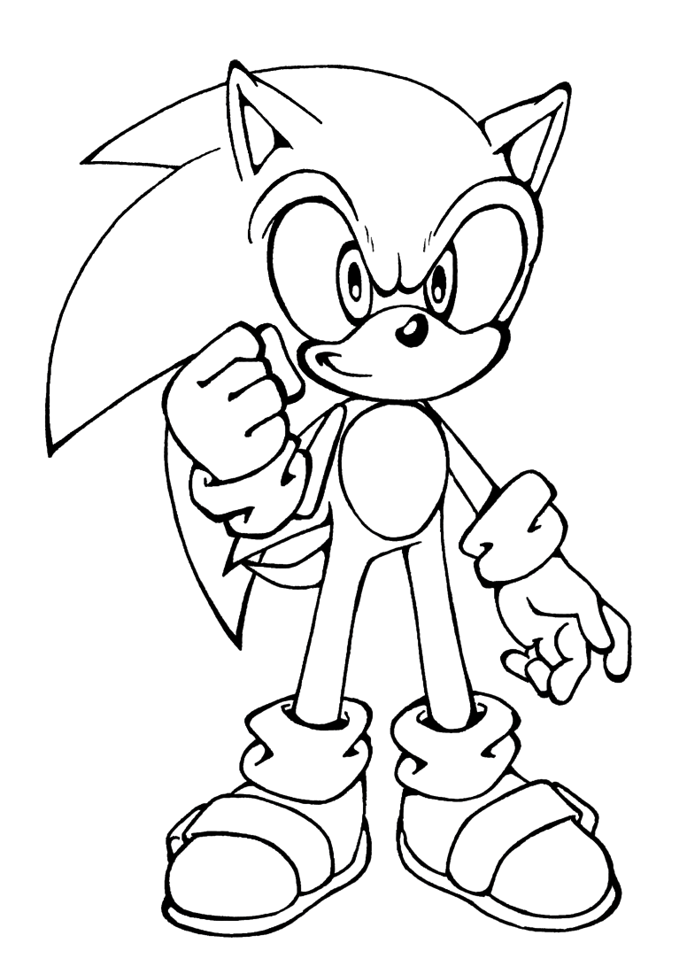 Free printable sonic the hedgehog coloring pages for kids for Free printable cartoon coloring pages