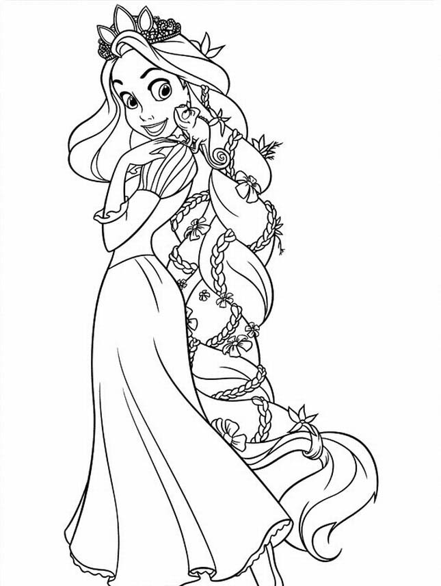 170 FREE Tangled Coloring Pages (July 2020) Rapunzel Coloring Pages | 856x645