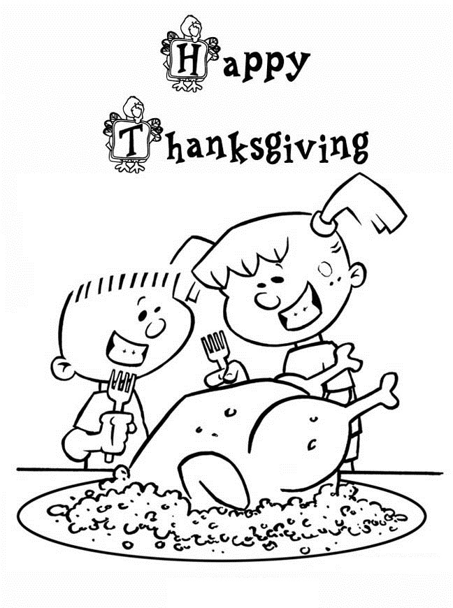 Printable Thanksgiving Coloring Pages For kKds