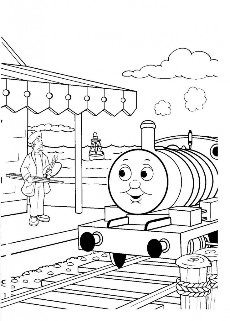 printable coloring pages of trains - photo#15