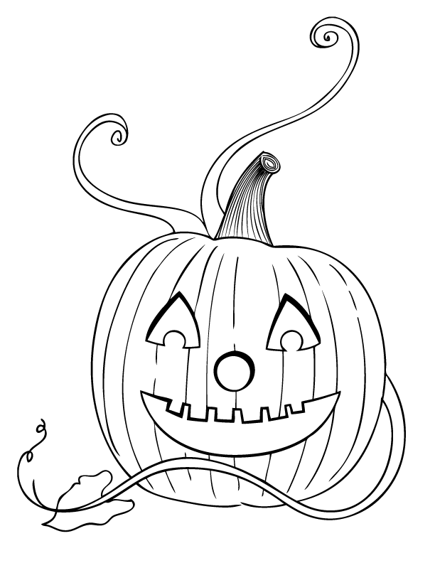Adult Coloring Pages Halloween Pumpkins