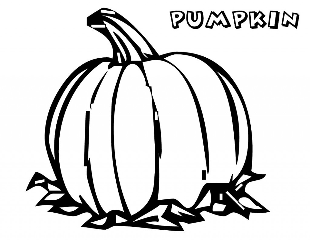 Pumpkin coloring pages for kids - Free Printable Pumpkin Coloring Pages For Kids