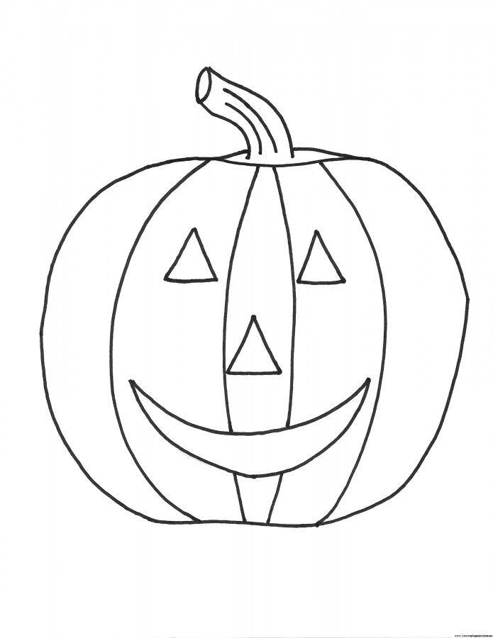 Pumpkin Halloween Coloring Pages