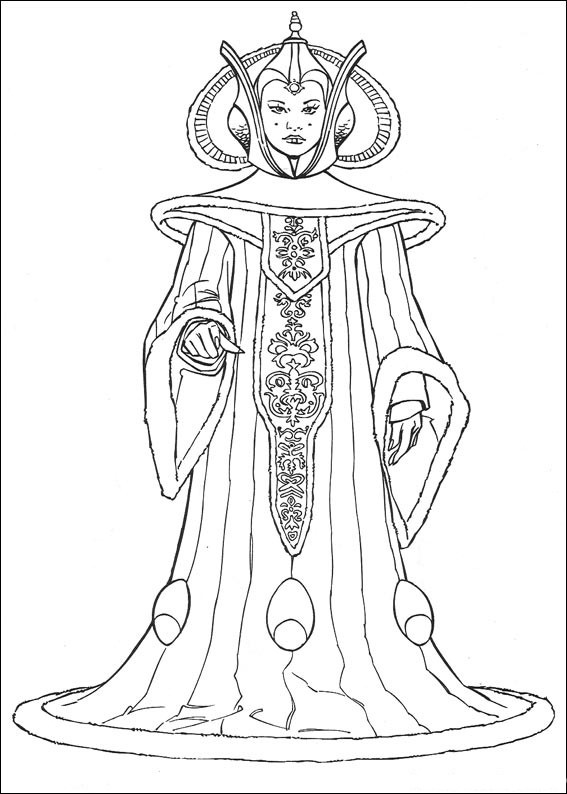 queen amidala star wars coloring pages