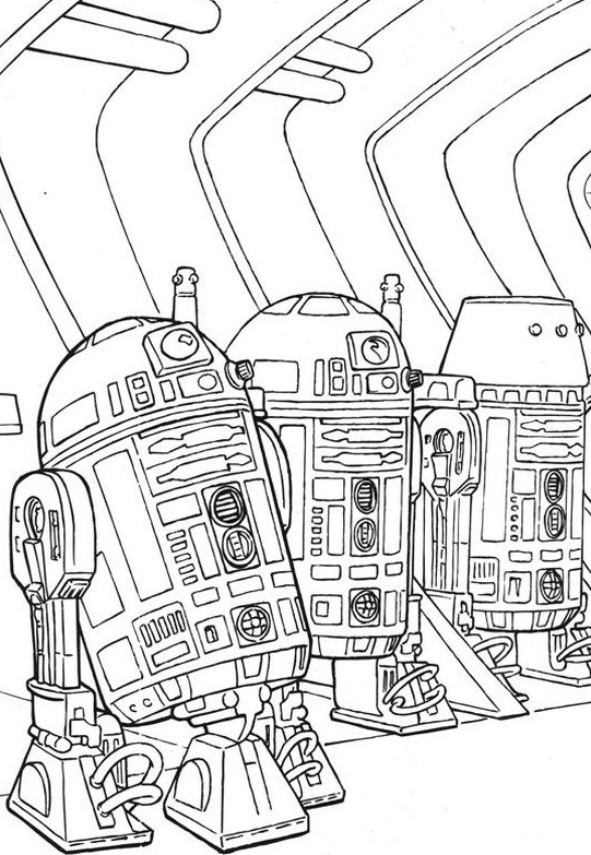 R2 Droids - Star Wars Coloring Pages