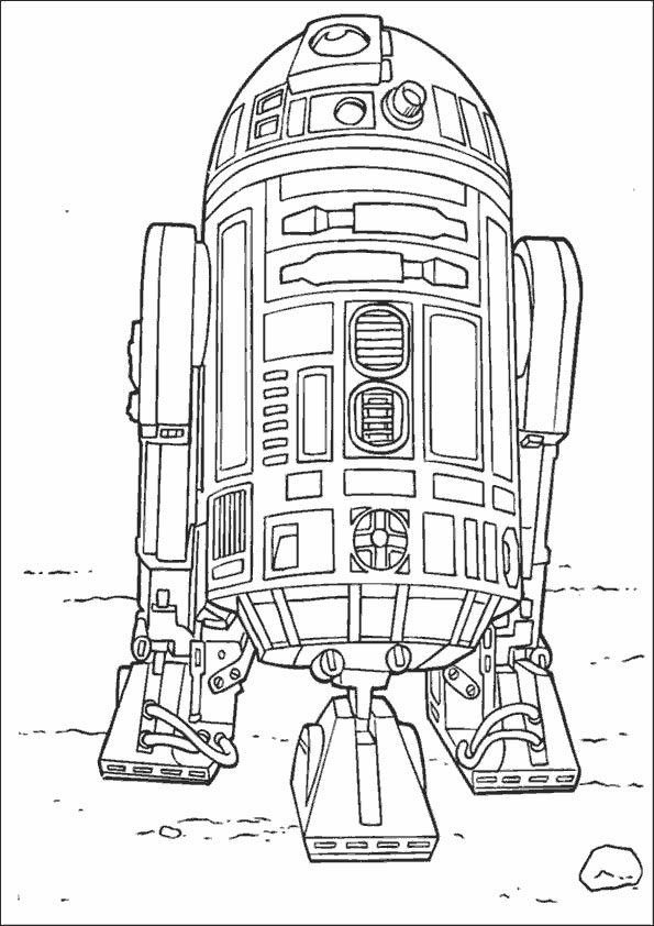 R2D2 - Star Wars Coloring Pages