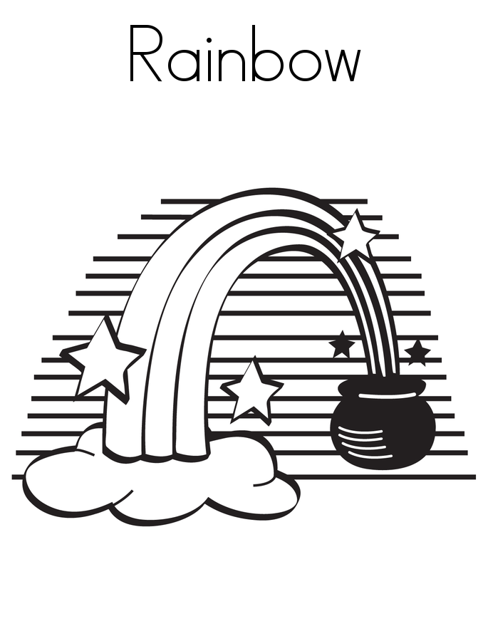 rainbow coloring pages free printables - photo#40
