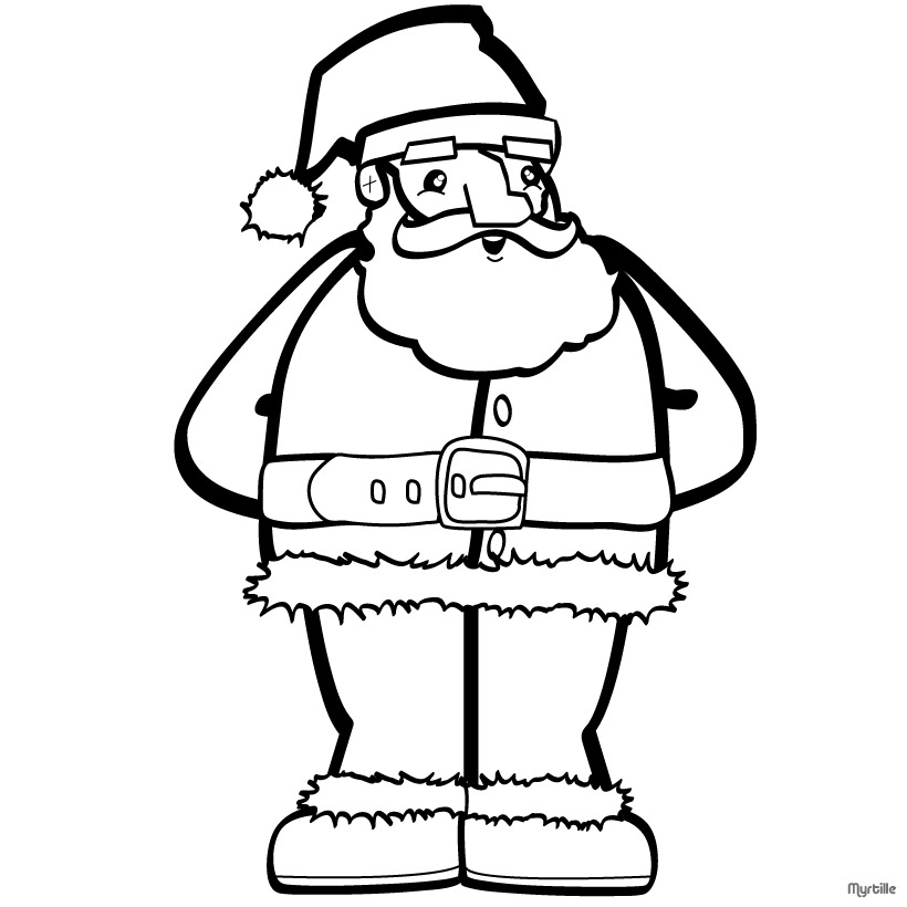 christmas santa claus coloring pages free printable - 820×820