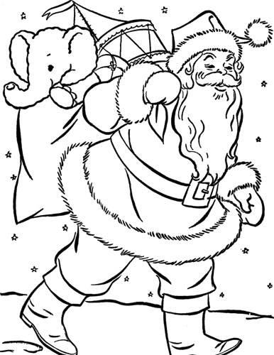 Santa Printable Coloring Pages