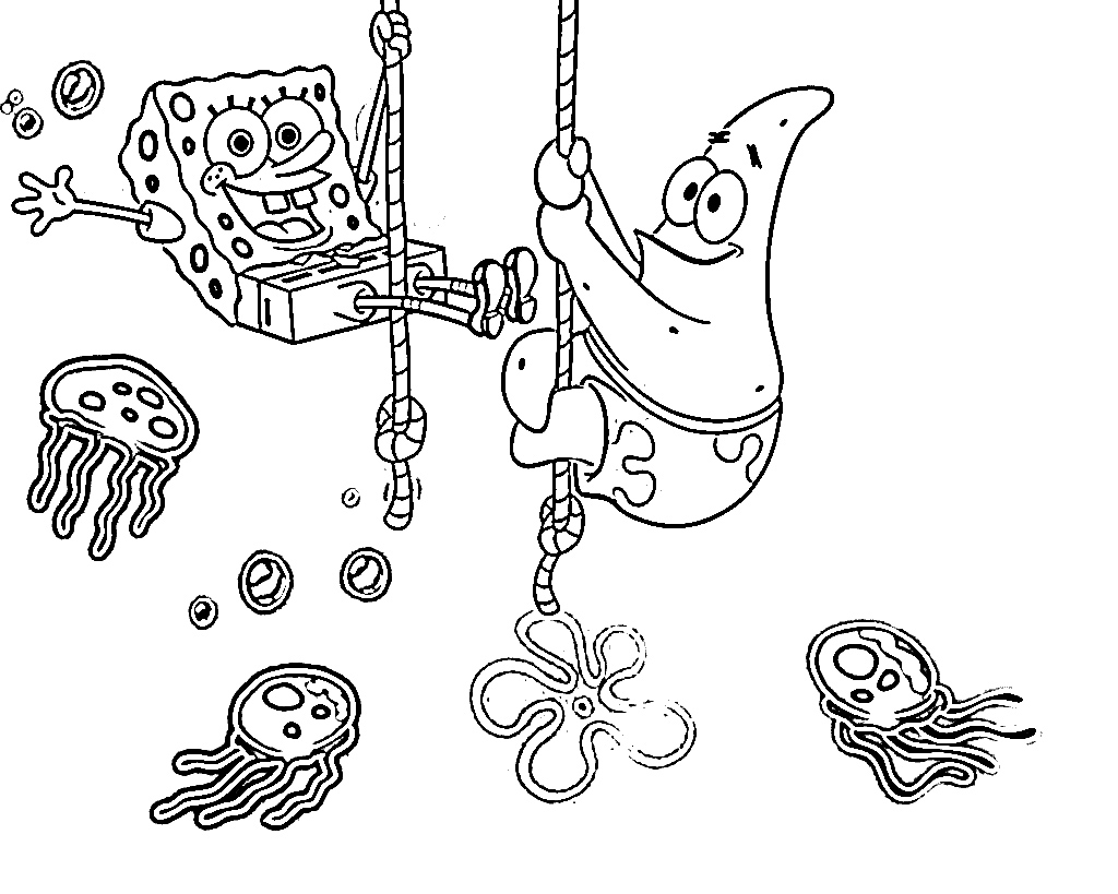 spongebob fun coloring pages - photo#32