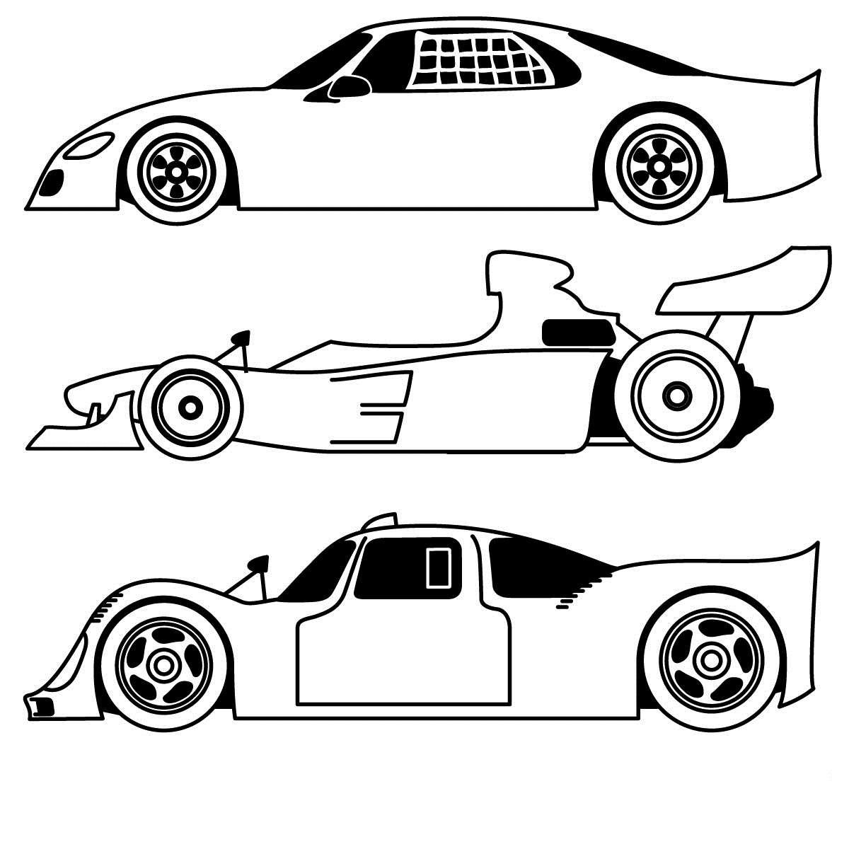 Sports Coloring Pages Printable Free Car Sheets Sheet Of ... | 1200x1200