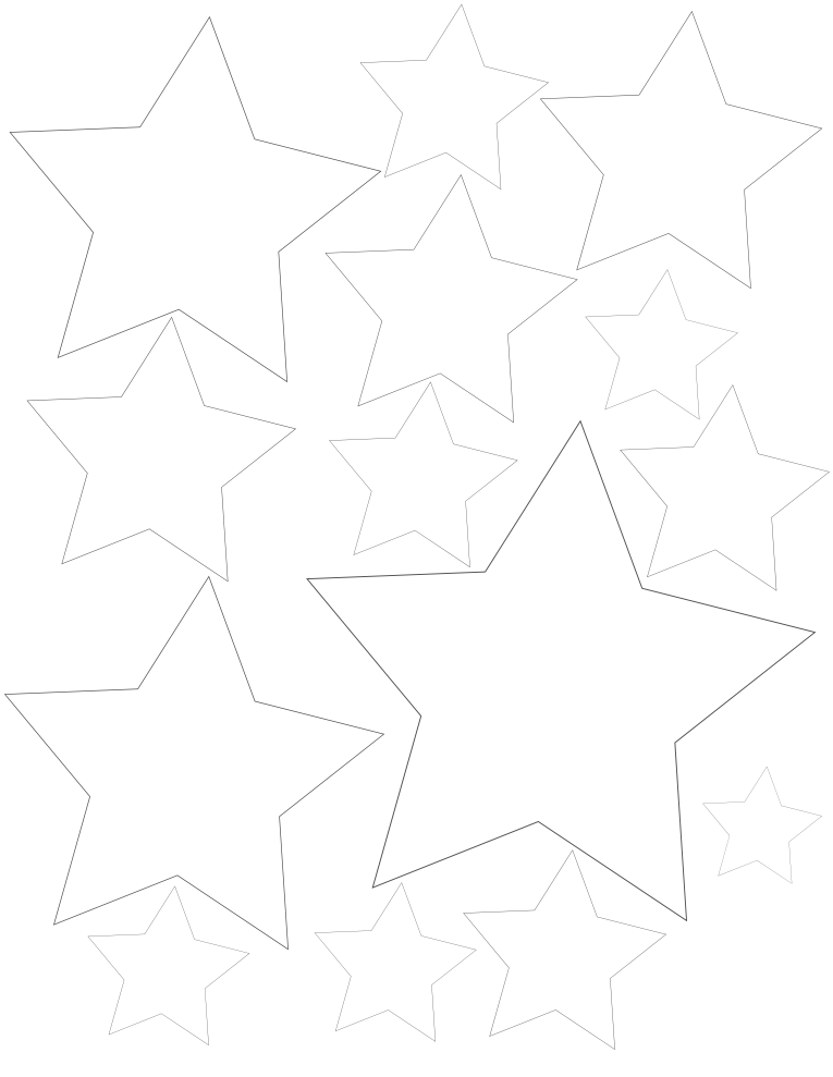 Free Printable Star Coloring Pages