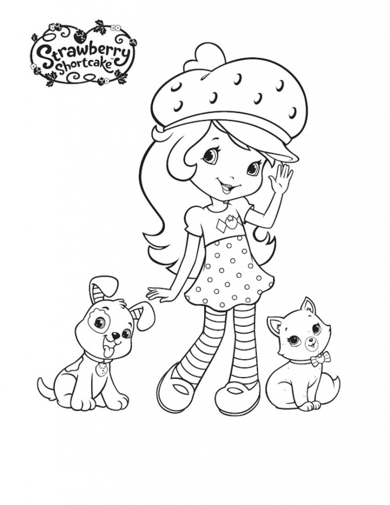 strawberry shortcake coloring pages free - photo#14