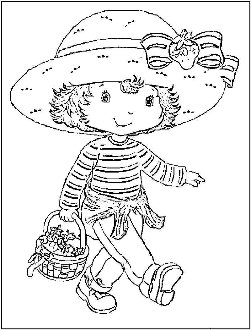 christmas strawberry shortcake coloring pages - photo#32