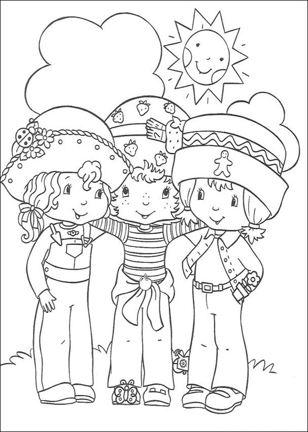 coloring pages about friendship - free printable strawberry shortcake coloring pages for kids