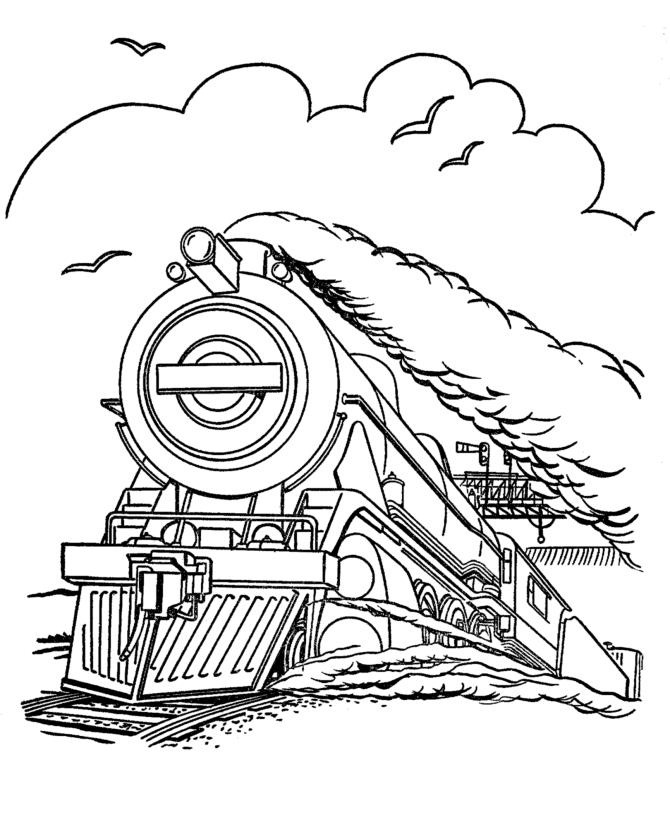 Free printable train coloring pages for kids for Free online color pages