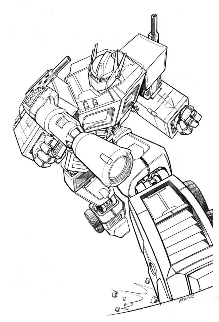 transformer coloring pages optimus prime | Free Printable Transformers Coloring Pages For Kids