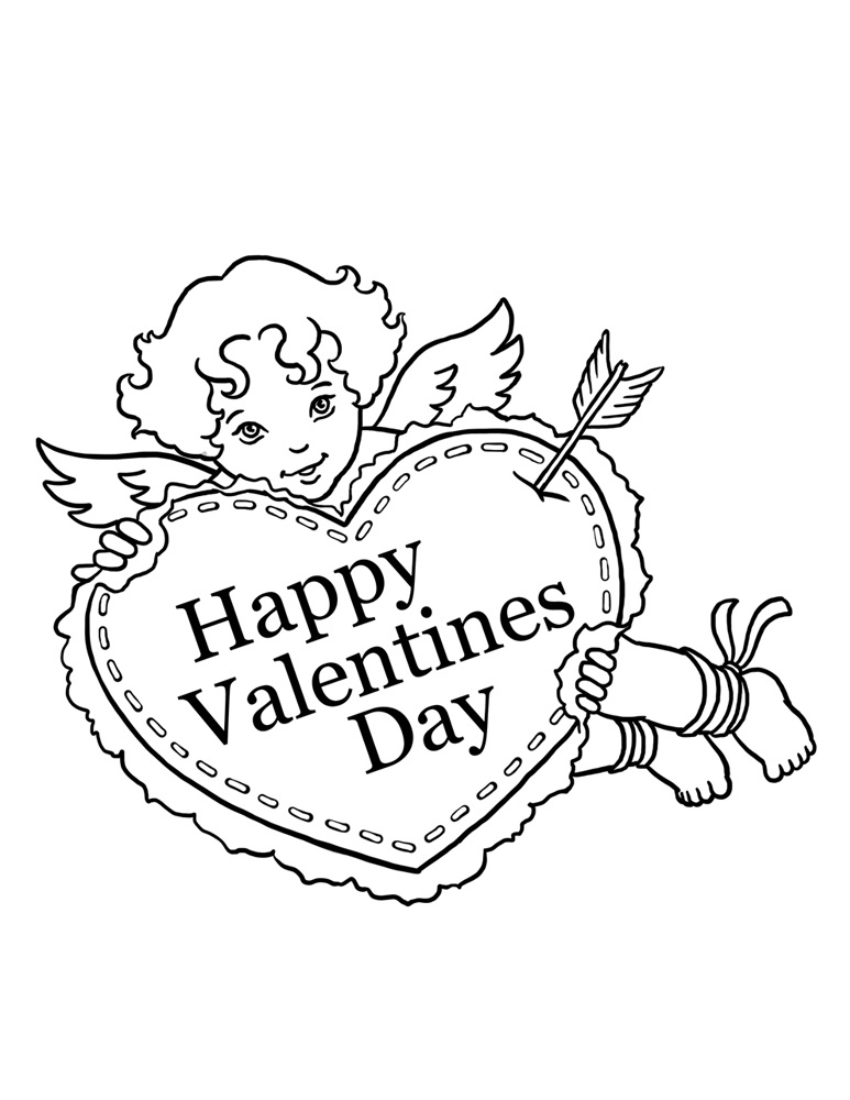 It's just a graphic of Dynamic Printable Valentine Coloring Page