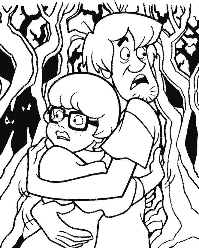 Velma Dinkley & Shaggy Rogers Coloring Page