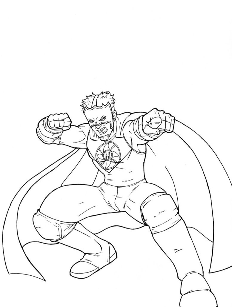 Free Printable WWE Coloring Pages For Kids | 1028x777