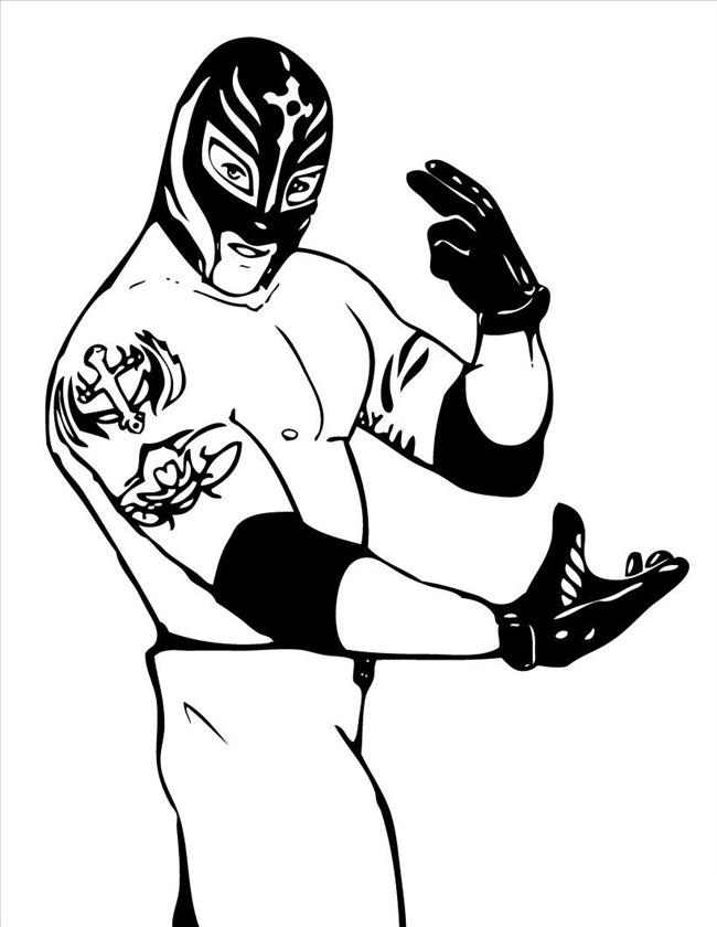 wwe coloring pages to print