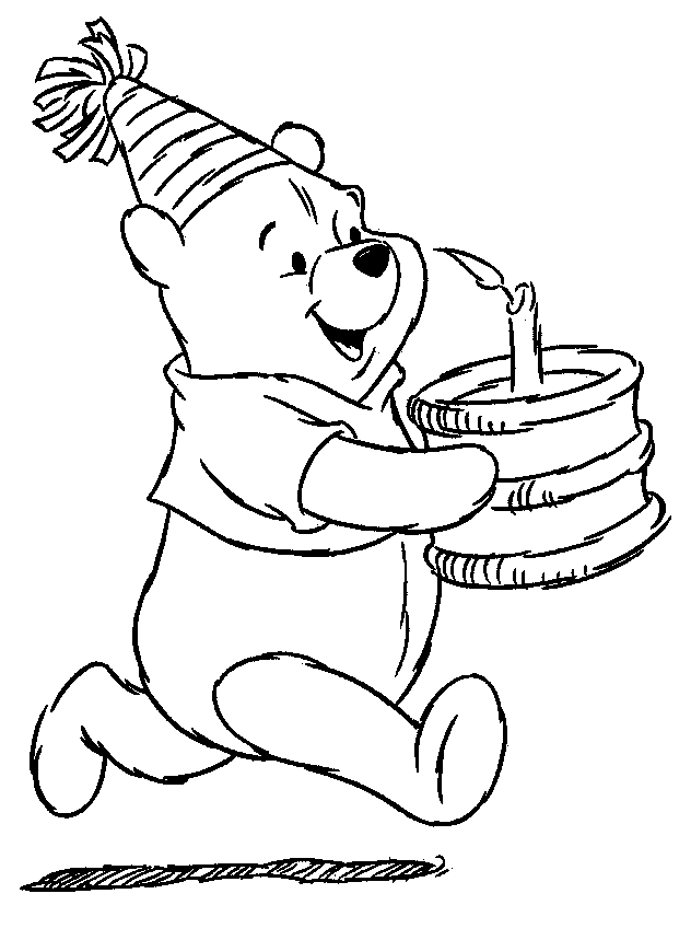 Winnie The Pooh Christmas Coloring Pages