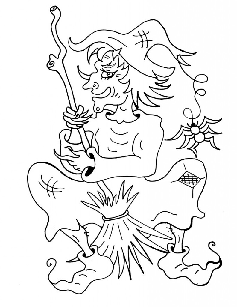 Witch Coloring Pages For Kids